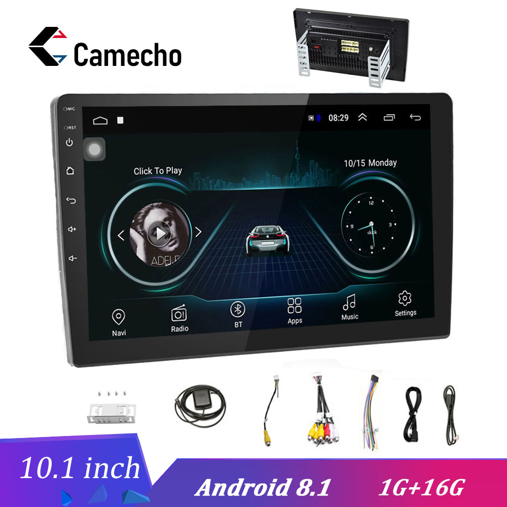 Camecho 2 Din 10 1 Car Multimedia Player Android Car Stereo Radio Bluetooth WIFI Audio Mirrorlink