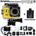 """Бесплатная доставка Мини Видеокамеры go hero pro стиль 1080 P Full HD DVR SJ4000 Водонепроницаемый Действий Камеры 1.5 """"ЖК-Экран Добавить 2 х батареи"""