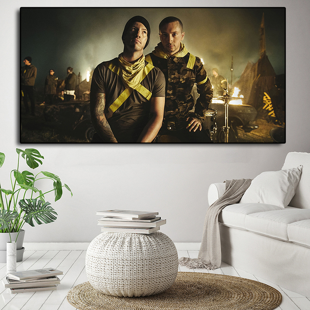 Группа Twenty One Pilots Тренч Обложка HD Wall Art Постеры-холсты печатает живопись настенные картины для офиса гостиная домашний декор