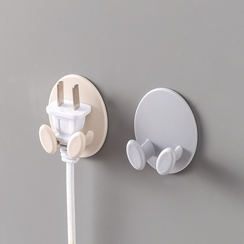Image 2 - 1 Piece  Creative Shape Strong Hook Adhesive Multi Purpose Hooks Wall Mounted Mop Organizer Holder Plug Kitchen Bathroom Hooks-in Bathroom Hooks from Home & Garden