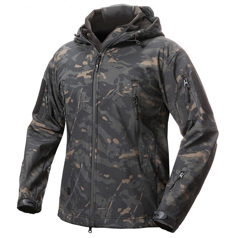 Для мужчин зима флис лайнер Водонепроницаемый куртка Открытый спорт отдых Лыжный Спорт теплый Тактический Военная Униформа TAD V5 камуфляж с ...