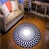 2017 High Quality Acrylic Captain Round Rugs Living Room Doormat Cartoon Carpets Door Floor Mat For