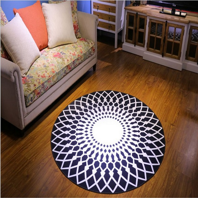2017 High Quality Acrylic Captain Round Rugs Living Room Doormat Cartoon Carpets Door Floor Mat For