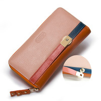 Women Purses Long Zipper Genuine Leather Ladies Clutch Bags With Cellphone Holder louis Card Holder Wallet