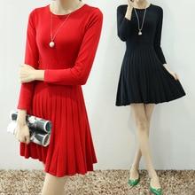 2015 fall fashion simple slim knit dress female wholesale 8441