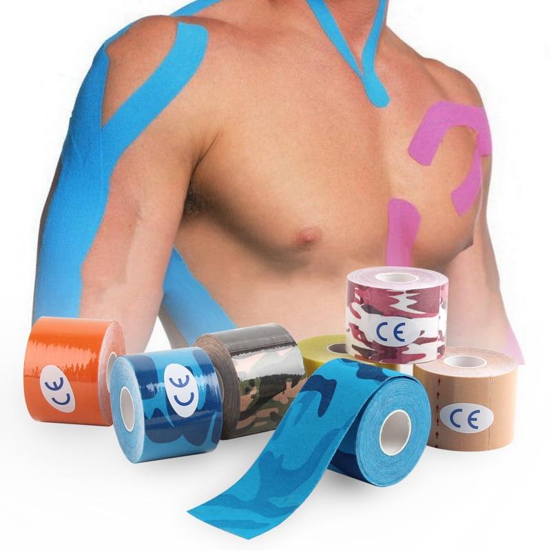 5cm Waterproof  Kinesiologe Tape Kinesiology Tape Sport Taping Strapping Football Knee Muscle Elastic Bandage Fitness gadget