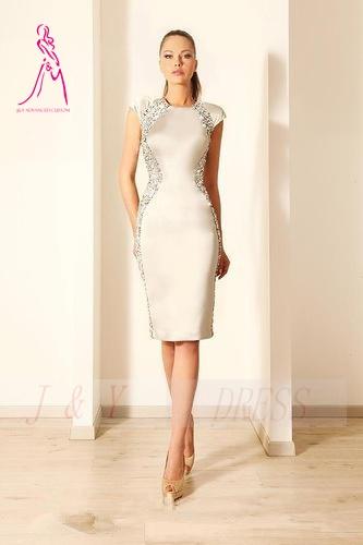 Cap Sleeve Cocktail Dress Knee Length - Ocodea.com