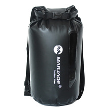 20L Impermeable Swimming Water Proof Bag Backpack For PVC Waterproof Swim Dry Ocean Pack Backpack Bag With Visible Window 12l inflatable pvc hermetic dry waterproof bag pouch ocean pack for swimming water proof bag impermeable backpack swim buoy