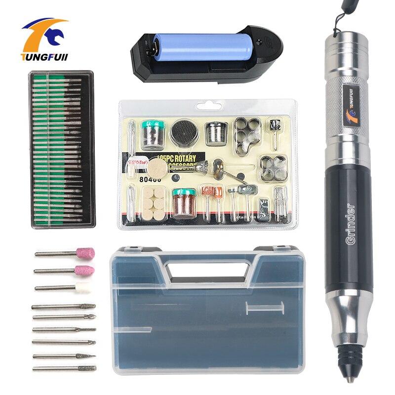 Outils électriques Tungfull perceuse électrique de Style Dremel perceuse sans fil Mini perceuse électrique de forage accessoires d'outils rotatifs Dremel