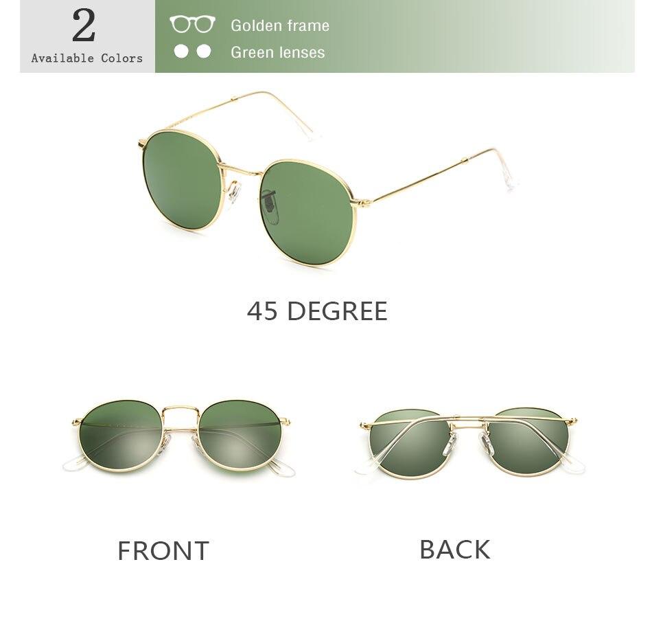 HTB1aL6xcMLD8KJjSszeq6yGRpXaW - Luxury Round Sunglasses Women Brand Designer 2018 Retro Sunglass Driving Sun Glasses For Women Men Female Sunglass Mirror 3447