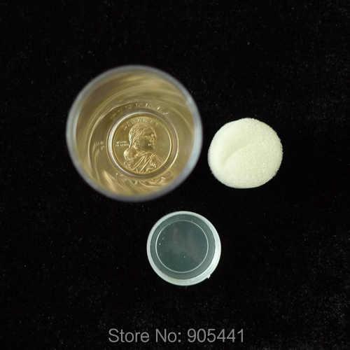 2 шт. Ясно Круглый Пластик монеты трубы для подобных один доллар Диаметр 27 мм Бесплатная доставка