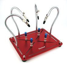 Manyetik yardım lehimleme çalışmaları üçüncü el kaynak onarım aracı PCB devre tutucu standı ile 4 adet esnek kol