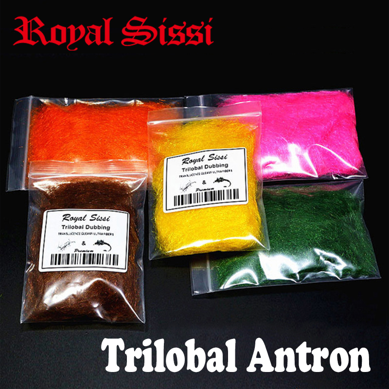 Royal Sissi 6colors mis mouche attachant doublage trilobal doublages Shaggy étincelles translucidité fibres trilobal étincelantes bonefish