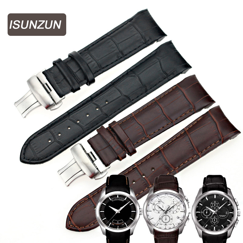tissot t035627a цена - ISUNZUN Mens Watch Bands For Tissot T035 1853 Genuine Leather Watch Strap T035627A Brand Watchbands 22MM Men Watch Band