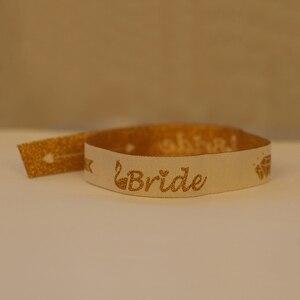 Image 5 - เจ้าสาว Bachelorette PARTY Bridesmaid สร้อยข้อมือทีมเจ้าสาวเผ่ามือ Band Hen Night งานแต่งงานซัพพลาย Decor IdentificationMark