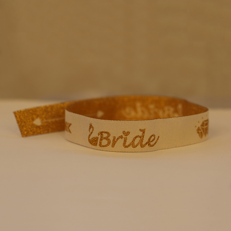 Bride To Be Bachelorette Party Bridesmaid Bracelet Team Bride Tribe Hand Band