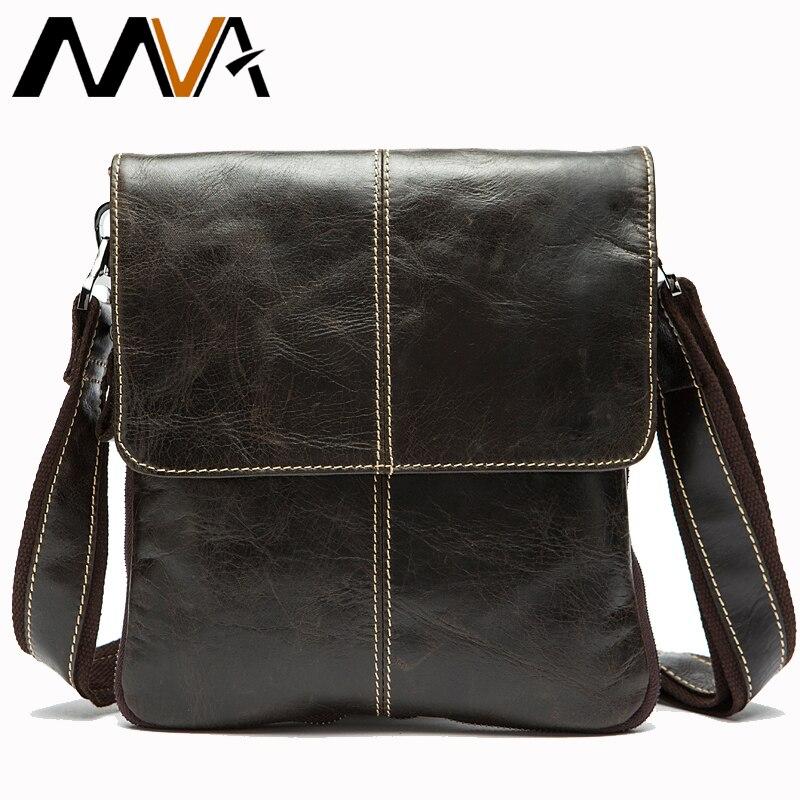 MVA Messenger Bag Men Shoulder bag Genuine Leather Small male man Crossbody bags for Messenger men