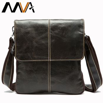 MVA bolsa de cuero bolsa de los hombres de moda de cuero genuino de los hombres bolsas de mensajero ocasional hombro diseñador bolsos hombre bolso de cuero genuino para hombre bandolera hombre bolsa masculina