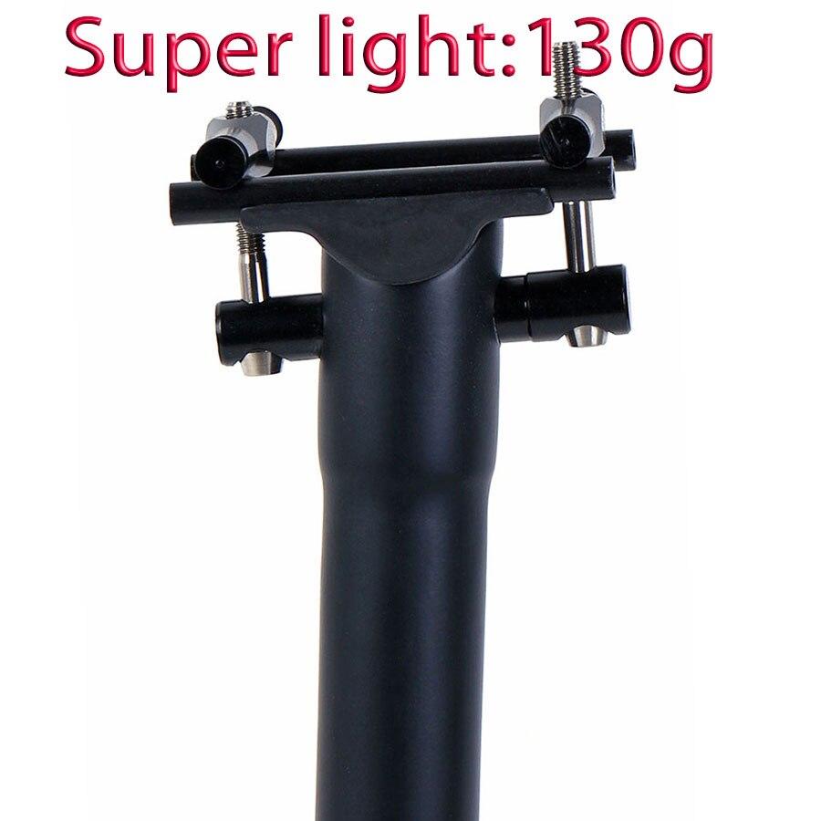 Espigão de Fibra de carbono Selim de Bicicleta de Estrada/Mtb Bicicleta Seatposts 135g UD Fosco de Titânio parafusos 27.2 30.8 31.6mm * 300 350 400mm