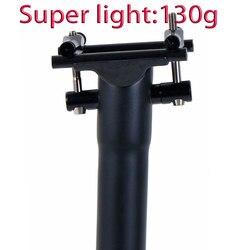 Sztyca podsiodłowa z włókna węglowego rower sztyca droga/rower mtb sztyca 135g UD matowe śruby tytanowe 27.2 30.8 31.6mm * 300 350 400mm w Sztyce rowerowe od Sport i rozrywka na