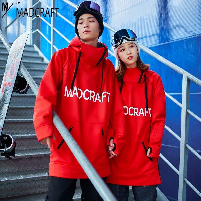 2018 Nuovo inverno casuale con cappuccio da uomo Felpa Con Cappuccio per sci snowboard manica lunga donna pullover loose fit Con Cappuccio impermeabile antivento