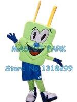 Зеленый штекер человек костюм талисмана оптовая мультфильм разъем контактный разъем контактный тема реклама костюмы карнавал необычные п