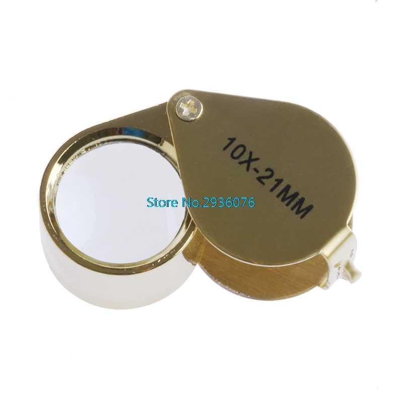 Mini Triplet jubiler oko lupa lupa powiększająca biżuteria szklana diament 10X21mm 20X21 MM 10X18 MM