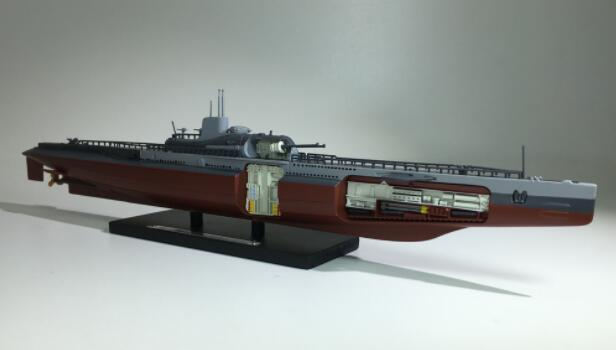 Rare  Special Offer  1:350  Underwater Cruiser  World War II France  Large Submarine Model  Alloy Collection Model