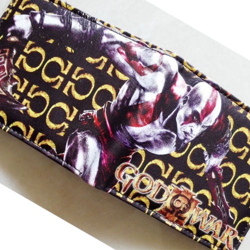 2018 Game God of War Kratos Logo wallets Purse Multi-Color 12cm Leather New Hot W196 god of war statue kratos ye bust kratos war cyclops scene avatar bloody scenes of melee full length portrait model toy wu843