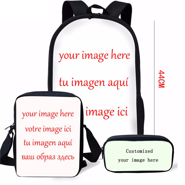 Thikin Godzilla Monstar 3Pcs set Book Bags Children School Bag for Boys School Backpack for Teen Boys Girls Kids Book Bags in Backpacks from Luggage Bags