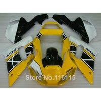 כושר ערכת חרטום ABS לימאהה R6 1998 1999 2000 2001 2002 YZF-R6 צהוב לבן שחור מעטפת סט YZF R6 98 99 00 01 02 NX20