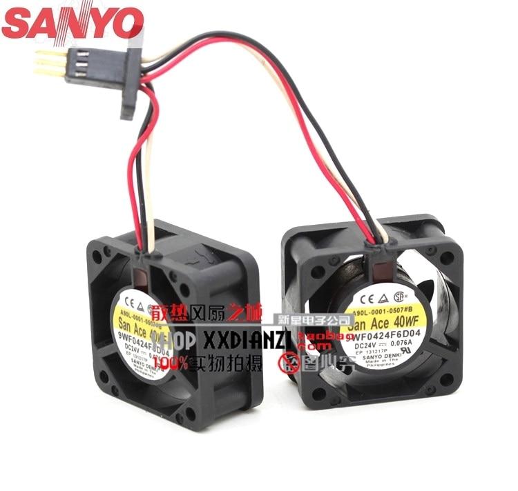 Sanyo 9WF0424F6D04 DC 24v 4020 waterproof cooling fan sanyo 9wp0812h401 new imported japanese ip68 waterproof fan 8025 12v cooling fan