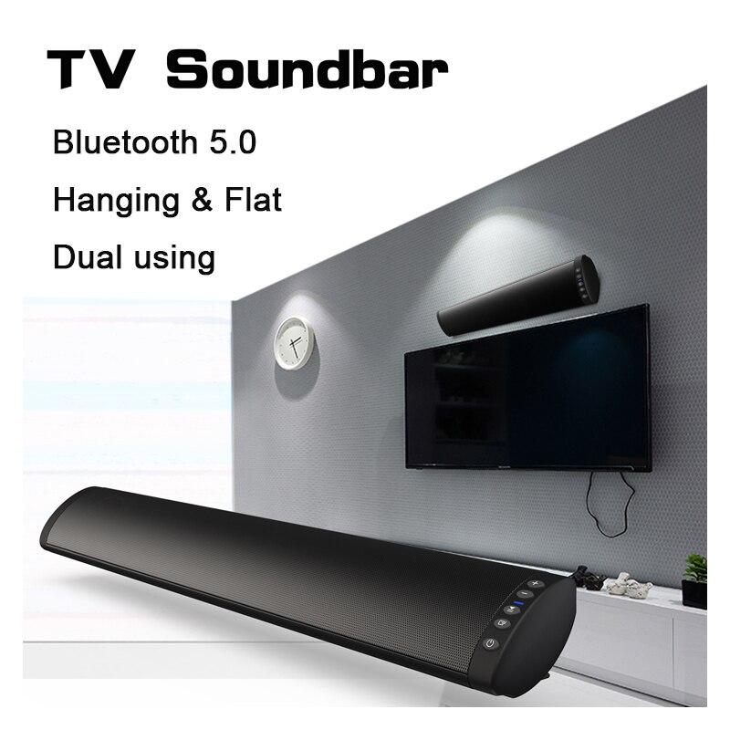 20 W Bluetooth 5.0 FM barre de son sans fil haut-parleur Home cinéma colonne Surround système de son stéréo mural barre de son