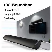 20W Bluetooth 5.0 FM Soundbar Wireless Speaker Home Theater Column Surround Sound System Stereo Wall Mounted Sound Bar bluetooth 5 0 fm soundbar wireless speaker 20w home theater column surround sound system stereo wall mounted speaker