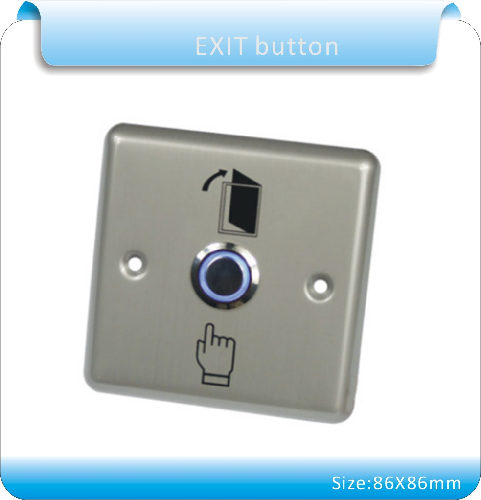 Free shipping 86X86 metal shell Door Release Exit Button /out door Switch with LED Indication(NO o NC) for access control system new arrival metal exit button exit switch with mushroom switch free shipping good quality security access control no exit button