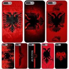 Албания флаг Жесткий Прозрачный Чехол Case для iPhone 7 7 Plus 6 6 S Плюс 5 5S SE 5C 4 4S