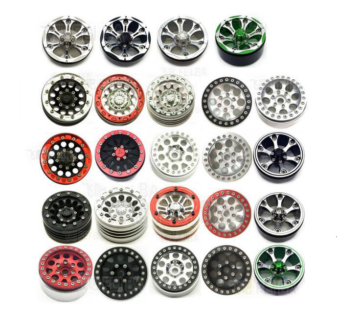 Free Shipping 4pcs 1.9 inch 1.9 Aluminium alloy crawler wheel hubs lock wheel hubs for D90/SCX10 CC01/RC4WD/RCRUN RC Car tire
