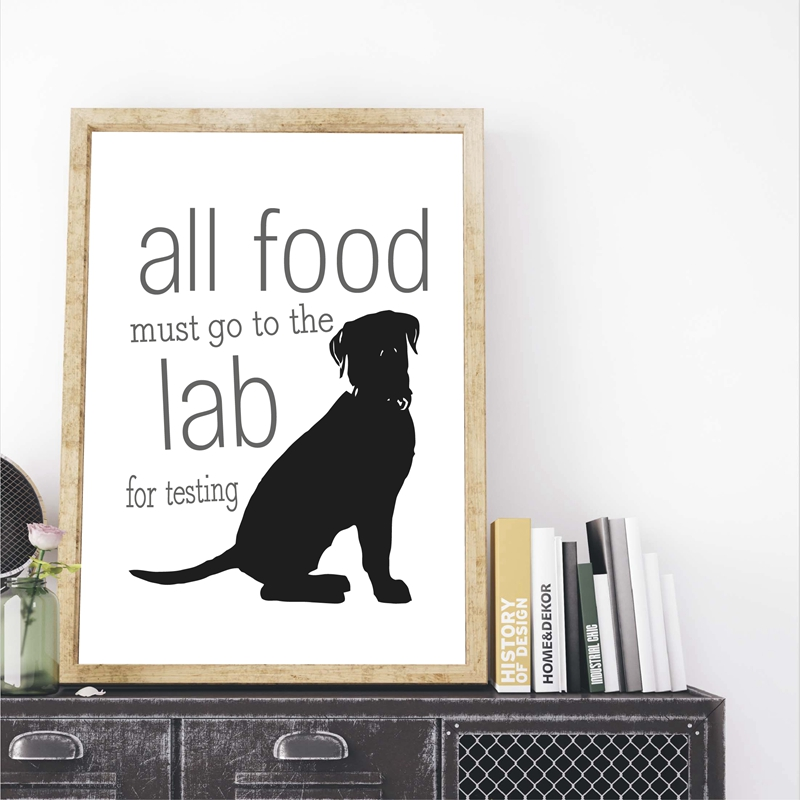 Black Labrador Print Dog Lover Gift Lab Poster Labrador Retriever Funny Dog Art Canvas Painting Wall Picture Home Wall Art Decor