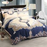 Proud Rose New European Bedding Four piece Set Bed Skirt Bedsheet Pillowcase King Size Kit Bed Comforter