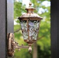 Высокая конец Водонепроницаемый Открытый Бра Настенные светильники наружного освещения содержит светодиодные лампы Бесплатная доставка