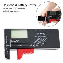 1 Pc Battery Tester Digital Battery Capacity Tester Check Power Level for 1.5V and 9V Batteries BT-168D все цены