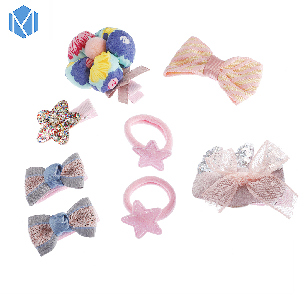 Girl 8pcs Hair Clip Set Princess Hair Barrettes Flowers Bows Stars Crowns Hearts