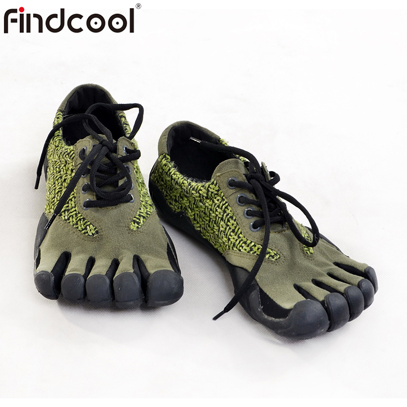 FINDCOOL Fivefinger Shoes Anti-Skid Outsole Five Finger Toes Quick-Dry Outdoor Walking Shoe Breathable Lightweight 5 Toe Shoes