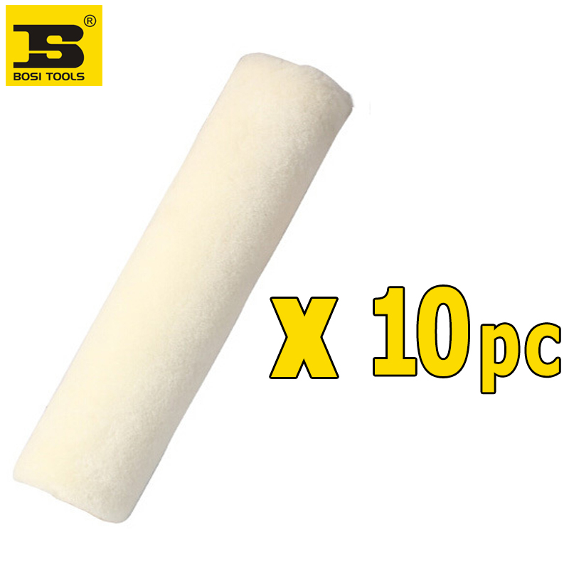 Free Shipping BOSI 9''/230mm 10PC wool paint roller roller brush