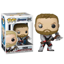 цена на FUNKO POP MARVEL figurine The Avengers 4 Endgame THOR 452# PVC action figure 10cm with box collection model doll toys gift