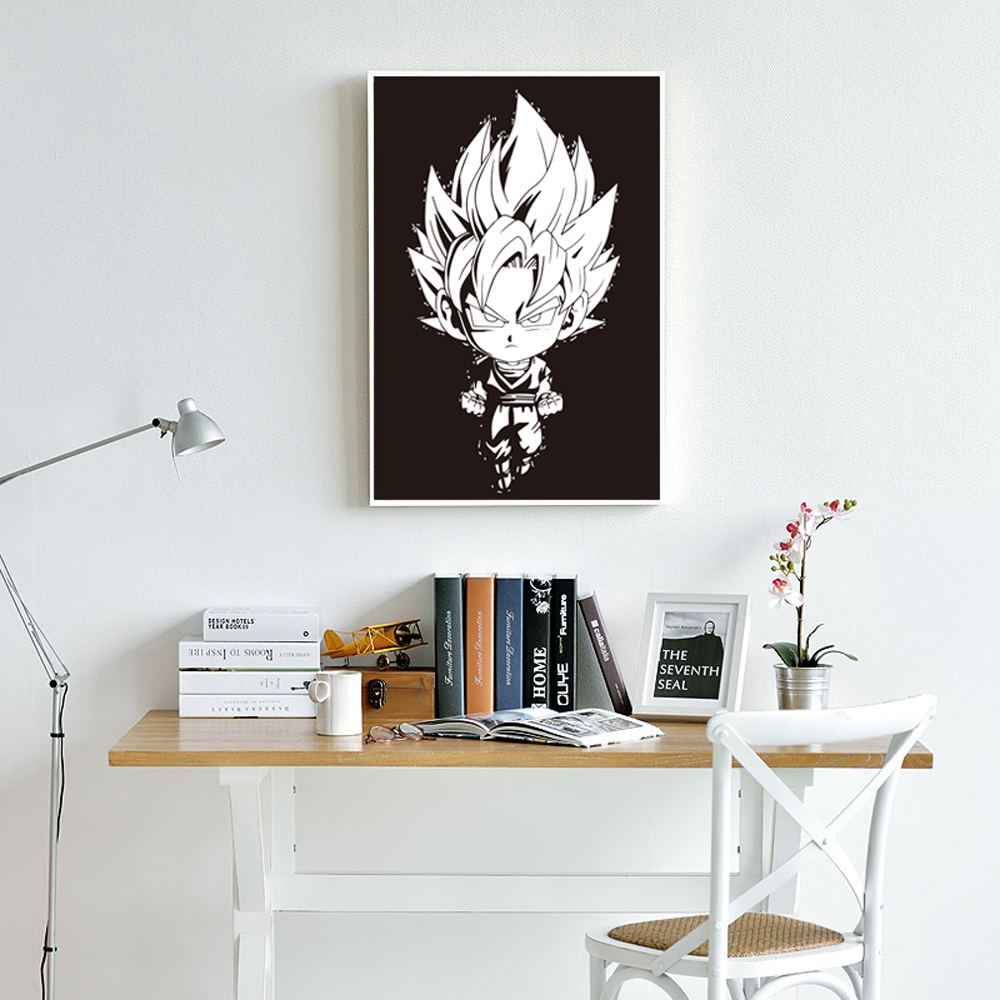 US $2 56 OFF Classical Dragonball SON GOKU Cute Cartoon Art Print Poster Wall Art Picture Canvas Painting Children S Bedroom Home Decor Art
