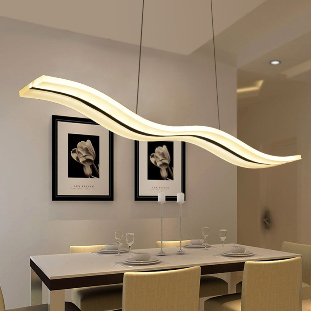 Lighting Fixtures Us 170 48 Led Modern Chandeliers For Kitchen Light Fixtures Home Lighting Acrylic Chandelier In The Dining Room Led Light Fixtures In Pendant Lights