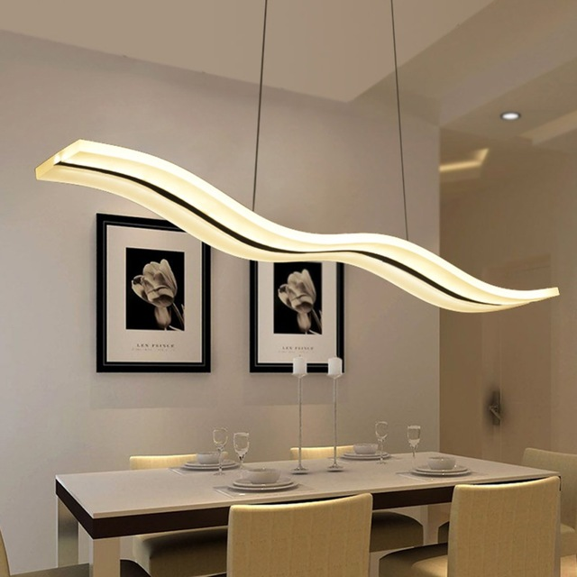 Led Modern Chandeliers For Kitchen Light Fixtures Home Lighting - Long kitchen light fixtures