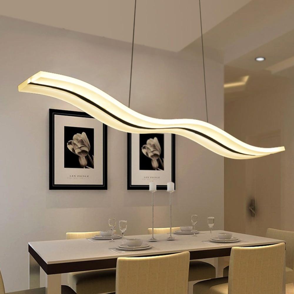 led lampadari moderni apparecchi di illuminazione domestica acrilico lampadario luce della cucina nella sala da pranzo