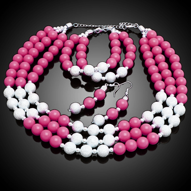 цена на free shipping mix color beads jewelry set purpal and silver african beads jewelry sets for wedding
